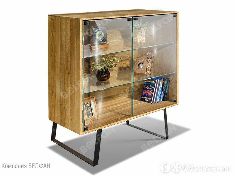 """Шкаф с витриной 2-х дв. """"Dillinger"""" (низкий с подсветкой); натуральный дуб, ч... по цене 67116₽ - Шкафы, стенки, гарнитуры, фото 0"""
