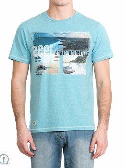 Футболки и майки - Купить летнюю футболку W3397 AQUA_MELANGE, 0