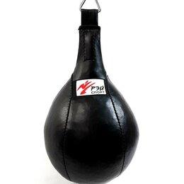 Тренировочные снаряды - Груша бокс  RAY SPORT 25 x 38 кожа 8 кг 2 петли, 0