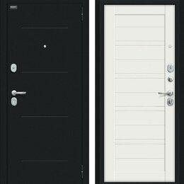 Входные двери - Входная дверь Сити Kale Букле черное Off-white, 0