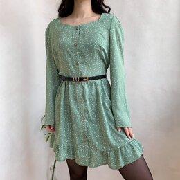 Платья - Мятное легкое платье , 0