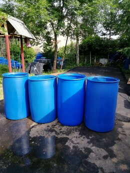 Бочки - Бочка пластиковая 227 литров вырезанная , 0