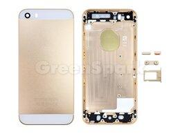 Корпусные детали - Задняя крышка для iPhone SE (золото) класс AAA, 0
