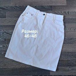 Юбки - Юбка белая джинсовая, 0