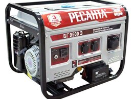 Электрогенераторы - Генератор бензиновый БГ 9500 Э Ресанта, 0