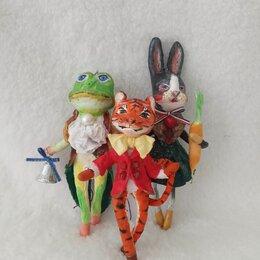 Ёлочные украшения - Набор игрушек ручной работы из ваты. Ёлочные украшения., 0