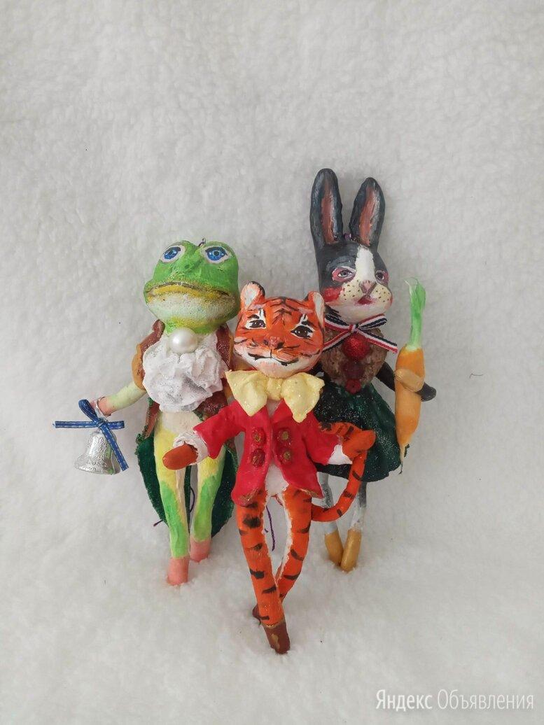 Набор игрушек ручной работы из ваты. Ёлочные украшения. по цене 6000₽ - Ёлочные украшения, фото 0