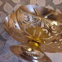 Декоративная посуда - Вазочка из СССР металлическая, 0