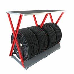 Шины, диски и комплектующие - Стойка для хранения колес ширина до 265мм мах.нагрузка до 120кг, 0