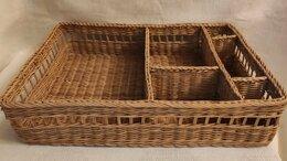 Корзины, коробки и контейнеры - Лоток вставка в ящик комода Плетеная, 0