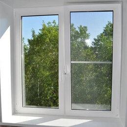 Окна - Окно ПВХ двустворчатое 116х120 см глухое/поворотное правое однокамерное, 0