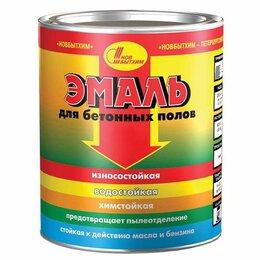 Эмали - Эмаль для бетонных полов темно красная  20л Новбытхим, 0