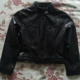Куртки и пуховики - Куртка кожаная для девочки, 0