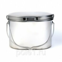 Туристическая посуда - Котелок нержавейка 2,2 л крышка с ручками l, 0