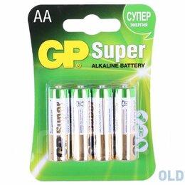 Батарейки - Батарейка GP LR6 Super Alkal AA к-т4 блист.(1шт.), 0