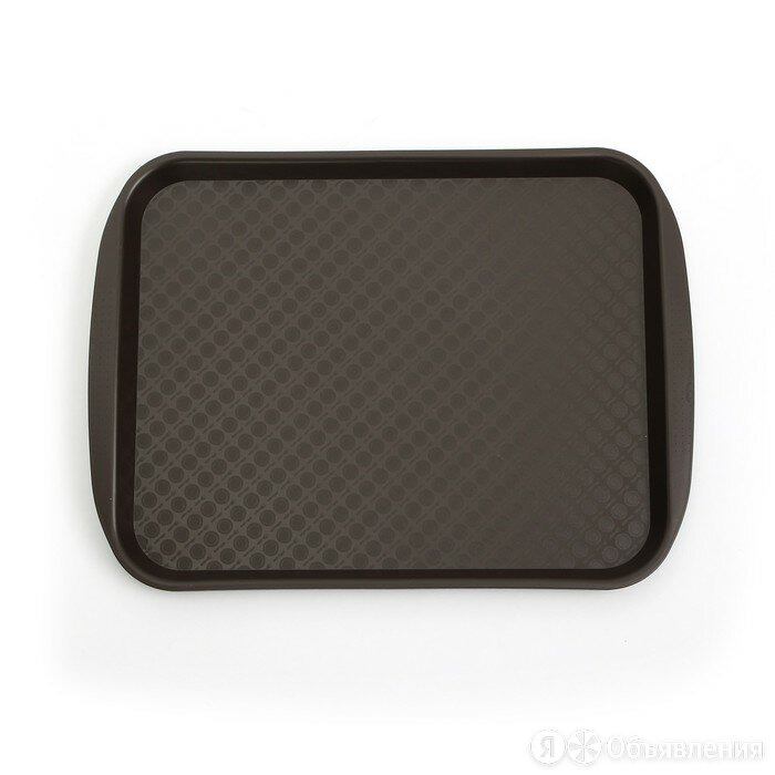 Поднос прямоугольный 36,5х27 см, цвет коричневый по цене 455₽ - Подносы, фото 0
