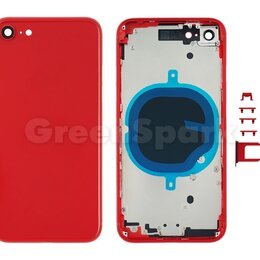 Корпусные детали - Корпус для iPhone 8 (красный), 0
