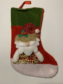 Подарочная упаковка - Нинбо Носок рождественский Дед Мороз 25 см, 0