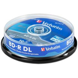 Диски - Диск BD-R DL 50Gb Verbatim 6x cake, упаковка 10…, 0