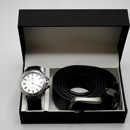 Подарочные наборы - Мужской набор часы и ремень Tommy Hilfiger, 0
