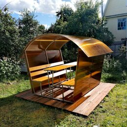 Комплекты садовой мебели - Дачная Беседка из поликарбоната , 0