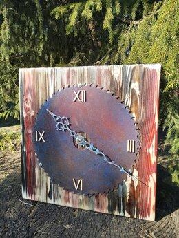 Часы настенные - Часы из дерева в стиле Лофт. Ручная работа, 0