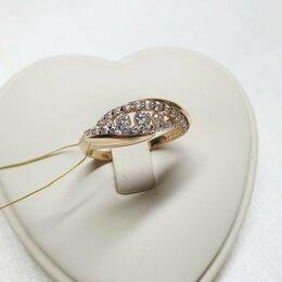 Кольца и перстни - Новое золотое кольцо с фианитами , 0