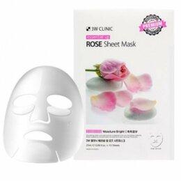 Маски - 3W Clinic Тканевая маска для лица с экстракт розы, 0