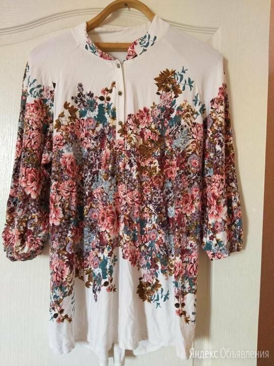 Блуза трикотаж.Цветы по цене 1300₽ - Блузки и кофточки, фото 0