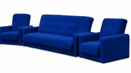Диваны и кушетки - Комплект мягкой мебели Милан синий 💥 0199💥, 0