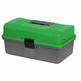 Сумки и ящики - Ящик рыболова Helios двухполочный зеленый, 0