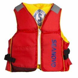 Спасательные жилеты и круги - Жилет страховочный детский Seanovo (Сианово) SXJ04, красный/желтый, 0