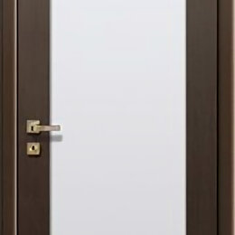 Входные двери - Дверь 60см ДО «Гранде» венге, белое стекло ПВХ, 0