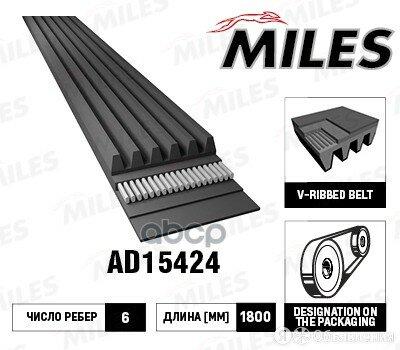 Ремень П/К 6pk1800 Miles арт. AD15424 по цене 389₽ - Двигатель и комплектующие, фото 0