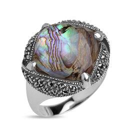 Кольца и перстни - Серебряное кольцо с перламутром, горным…, 0