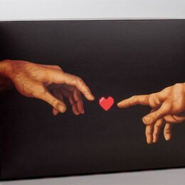 Упаковочные материалы - Складная коробка Love - 16 х 23 см. Черный, 0