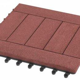 Паркет - Садовый паркет Комфорт 5 Grinder / Гриндер ДПК, 300x300 мм, цвет мербау, упаковк, 0