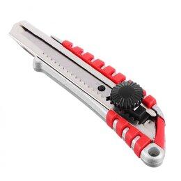 Пилы, ножовки, лобзики - Нож металлический усиленный с сегментированным  лезвием 18мм (круглый фикс..., 0