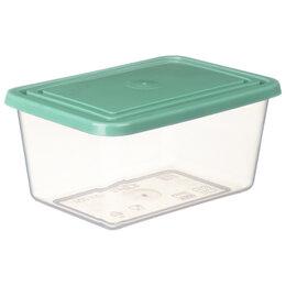 Ёмкости для хранения - Контейнер для СВЧ и продуктов Idea, 4л, прямоугольный, 12*19*25см, фисташковый, 0