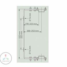Лестницы и элементы лестниц - Скоба для крепления к стене Zarges регулируемая…, 0