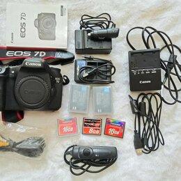 Фотоаппараты - Фотоаппарат canon 7D + флешки + аккумуляторы, 0