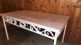 Столы и столики - Кофейный столик с элементами художественной ковки, 0