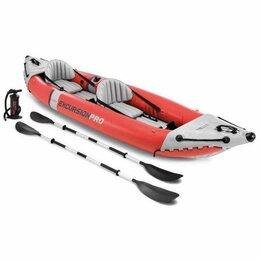 Надувные, разборные и гребные суда - Байдарка лодка надувная двухместная Excursion Pro, 0