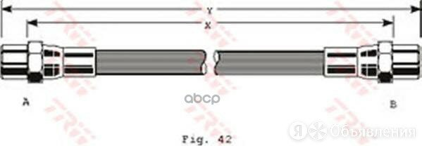 Шланг Тормозной TRW арт. PHA284 по цене 632₽ - Тормозная система , фото 0