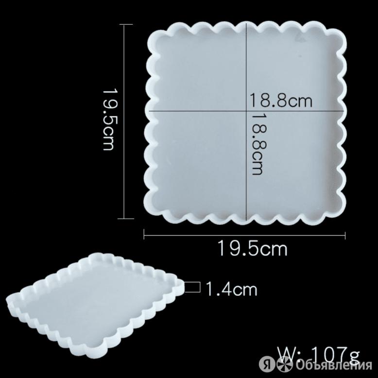 """EpoximaxX Силиконовый молд """"Квадрат волнистый"""" большой 19*19 см, для эпоксидн... по цене 690₽ - Сувениры, фото 0"""