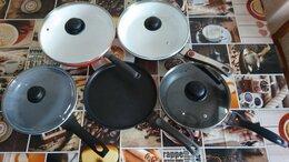 Сковороды и сотейники - 5 сковород. 2,000 рублей, 0