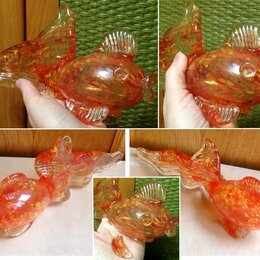 Статуэтки и фигурки - Статуэтка Золотая рыбка стекло, 0