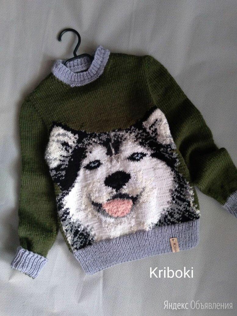 Детский свитер с хаски по цене 3300₽ - Свитеры и кардиганы, фото 0