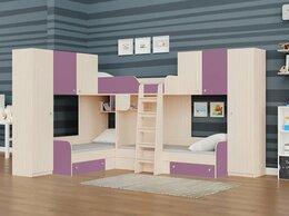 Кровати - Детская трехместная кровать ТРИО/3 дуб…, 0