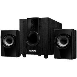 Компьютерная акустика - Колонки Sven MS-107, 2*2.5W+Subwoofer 5W, деревянный корпус, черный, 0
